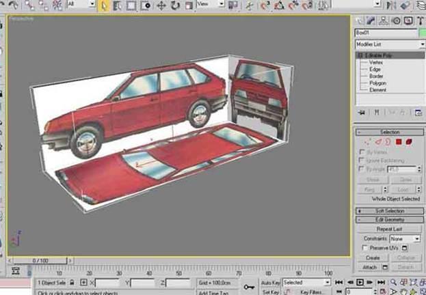 Как в 3d max сделать модель машины